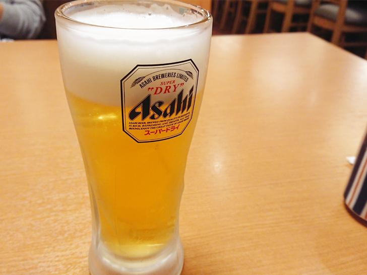 がんこ寿司で昼ビール