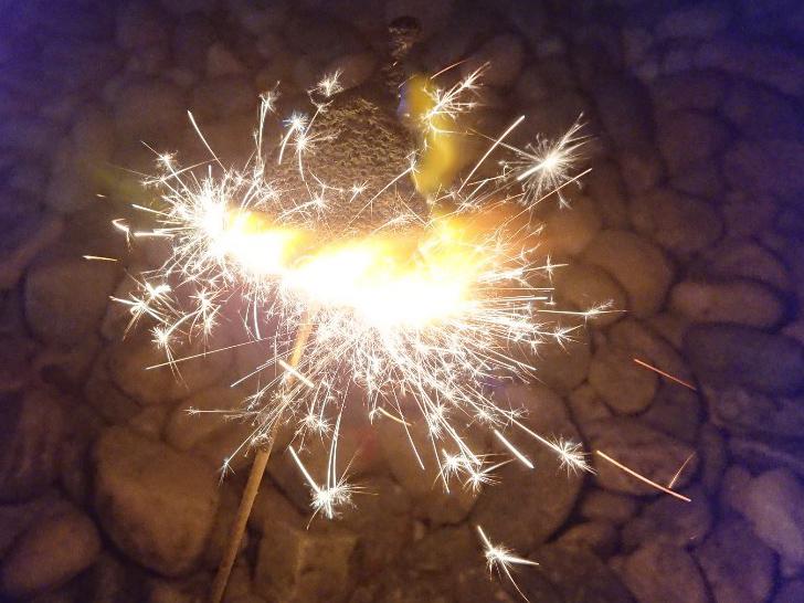 りんくう公園で手持ち花火