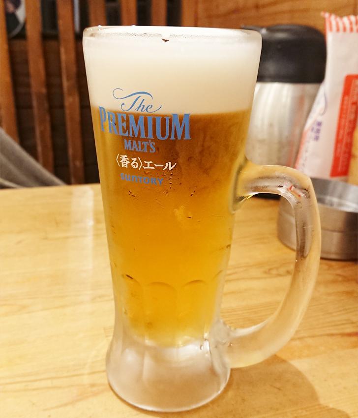 地魚屋台 とっつぁん ビールで乾杯
