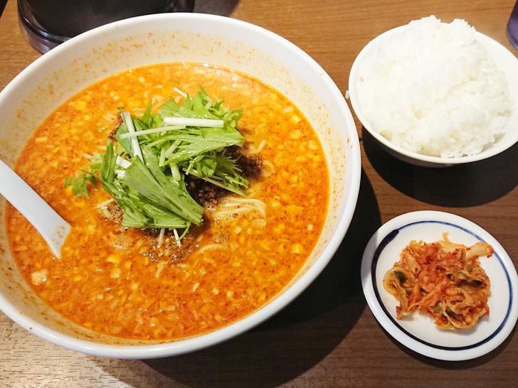 天神ササラの金胡麻担担麺とライスセット