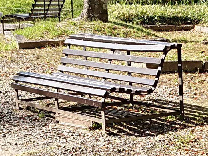 自然文化園の休憩スペース